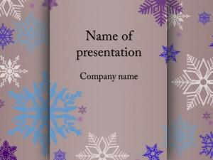 Free snowflakes powerpoint template presentation