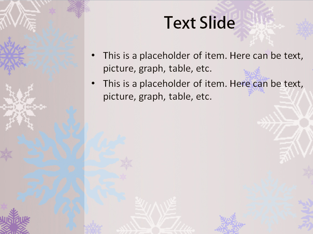 download free snowflakes powerpoint template for your presentation