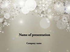 Cold winter powerpoint template presentation