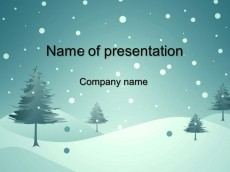 Free blue winter powerpoint template