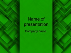 Free green abstract powerpoint template presentation