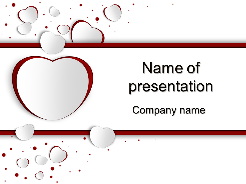 Download free love day powerpoint template for your for Free powerpoint presentation templates
