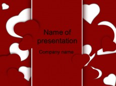 Free love powerpoint template presentation