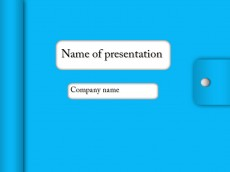 Free notebook powerpoint template presentation