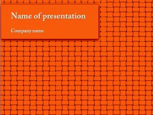Free orange powerpoint template presentation