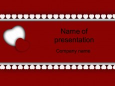 Free red white heart powerpoint template presentation