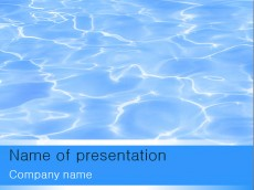 Free water PowerPoint template presentation