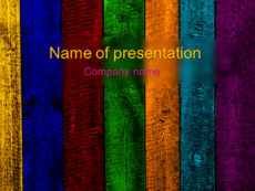 Rainbow powerpoint template presentation
