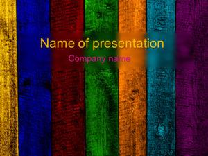 Rainbow powerpoint template presentation