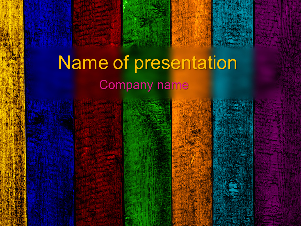 download free rainbow powerpoint template for your presentation