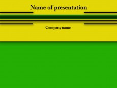 Yellow green free powerpoint template presentation