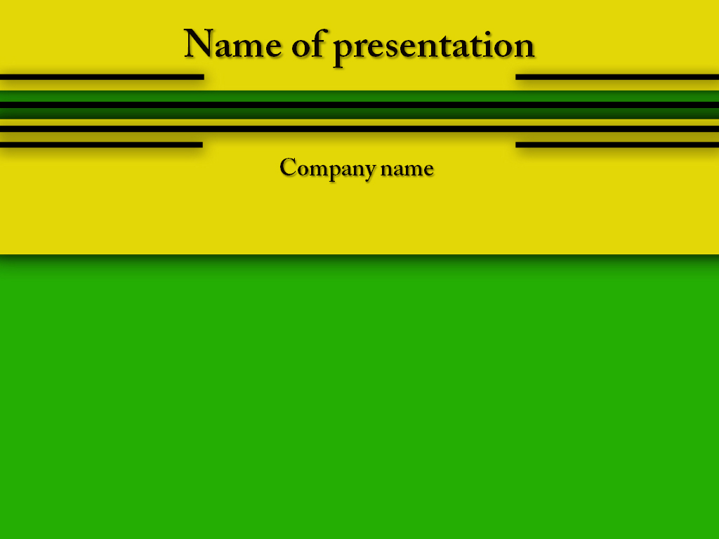 Download Free Yellow Green Powerpoint Template For Your