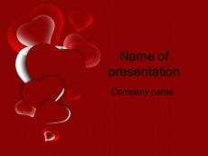Free red heart powerpoint template presentation