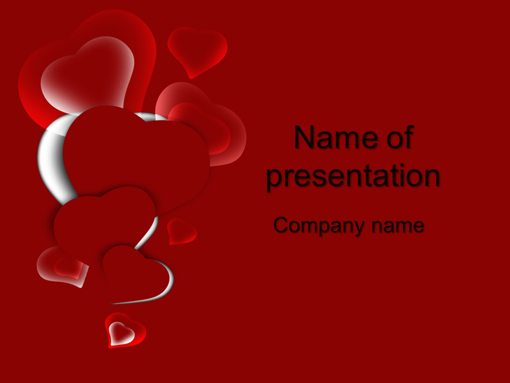 download free red heart powerpoint template for your