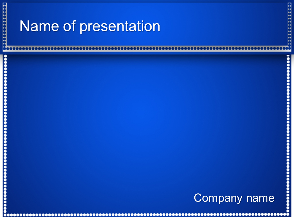 free powerpoint presentation templates download free blue dots powerpoint template for your