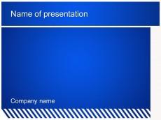 Free Blue zebra powerpoint template presentation