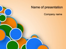 Free bubble powerpoint template presentation