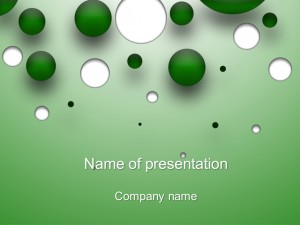 Free green bubble powerpoint template presentation