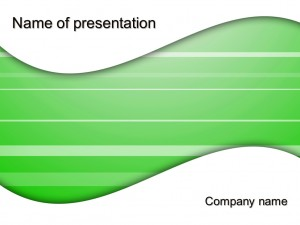 Free green wave powerpoint template presentation