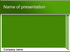Free green white powerpoint template presentation