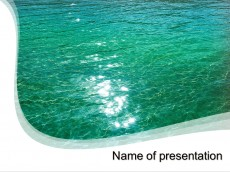 Blue water powerpoint template presentation