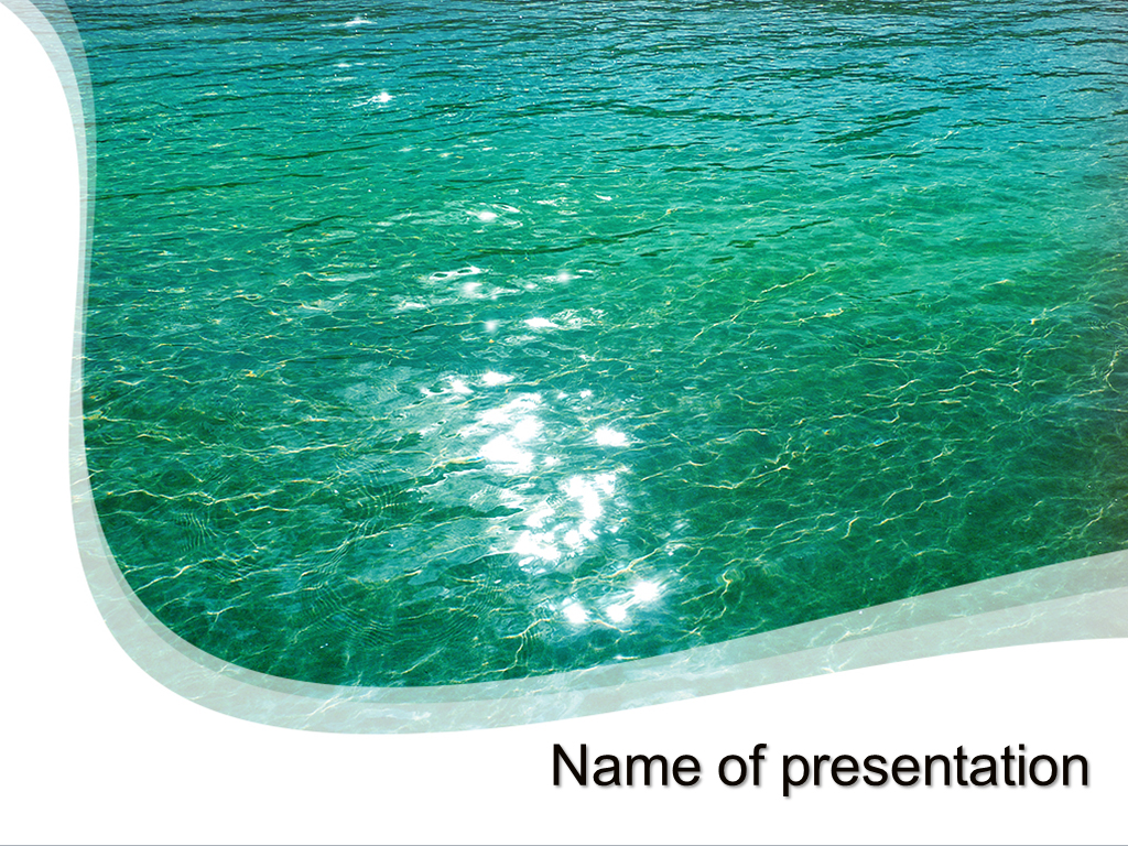 Download free blue water powerpoint template for your presentation blue water powerpoint template toneelgroepblik Images
