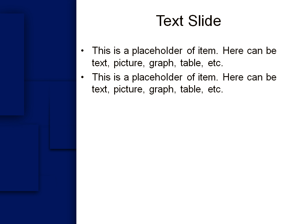 Free Blue squares powerpoint template presentation slide-1