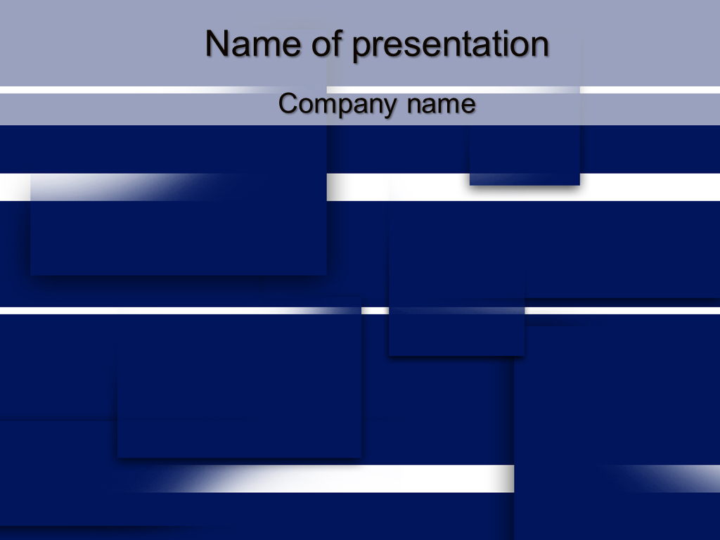 Free Blue squares powerpoint template presentation
