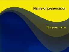 Free Yellow wave powerpoint template presentation