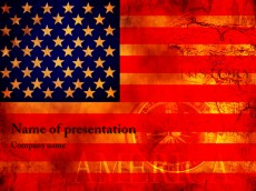 USA flag powerpoint template presentation