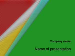 Cute Colors powerpoint template presentation