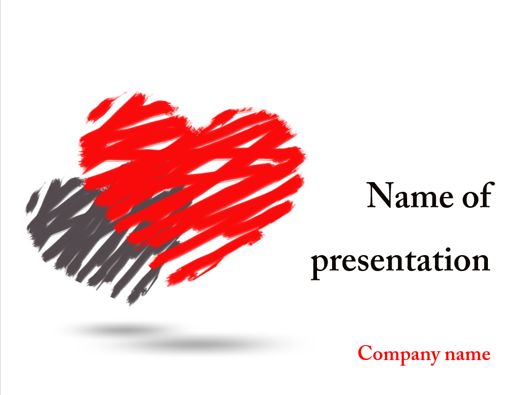 download free two hearts powerpoint template for your