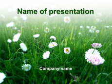 Green spring powerpoint template presentation
