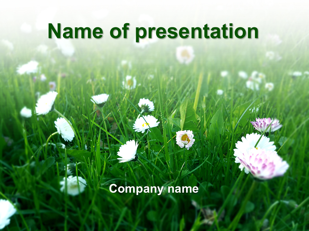 download free green spring powerpoint template for your presentation