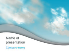 Free Clouds sky powerpoint template presentation.