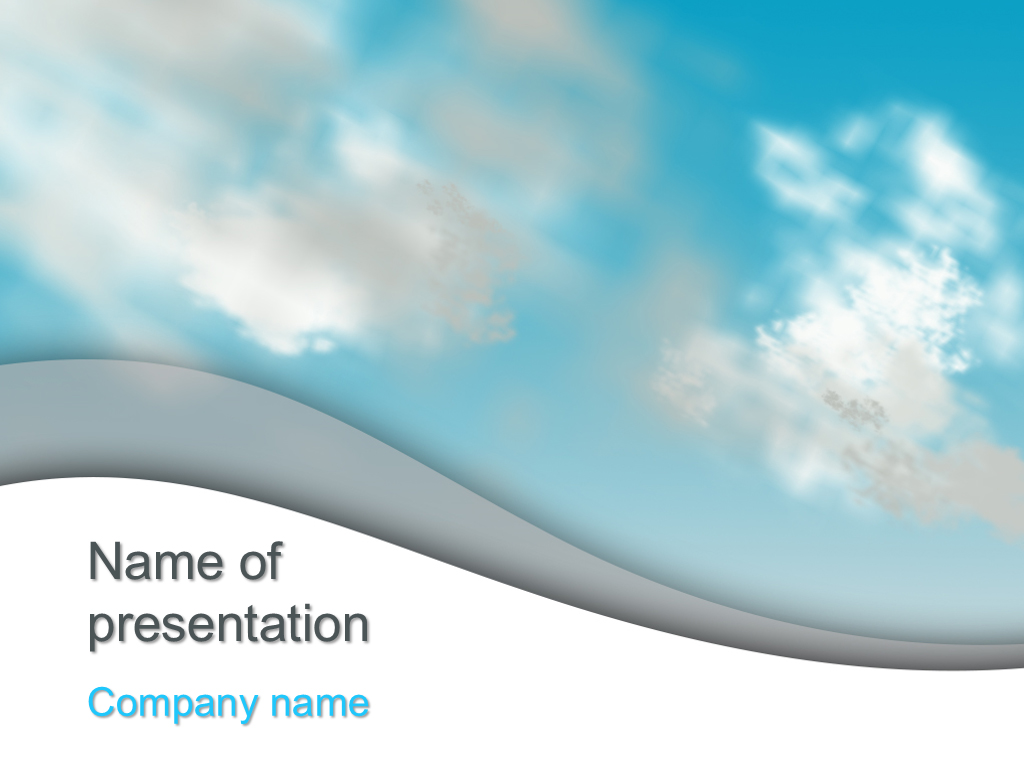 download free clouds sky powerpoint template for your
