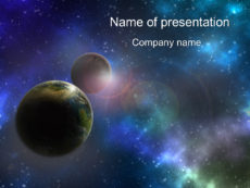 Free Deep Space powerpoint templates presentation