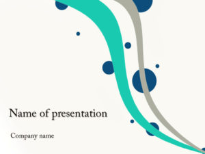 Free Flying Cirlces powerpoint template presentation