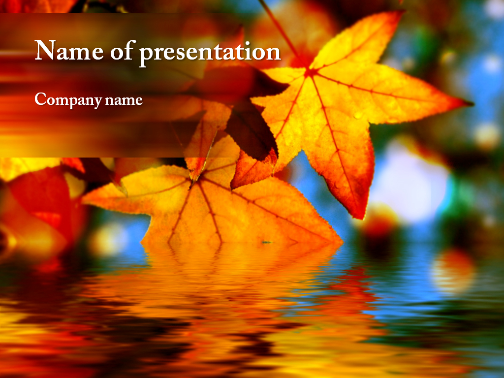 download free maple leaf powerpoint template for your presentation