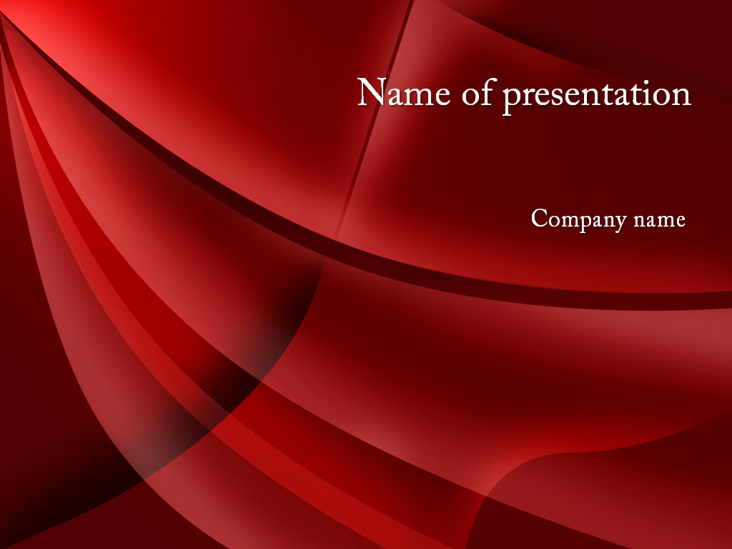 download free red shades powerpoint template for your presentation