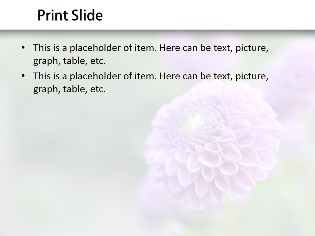 Download Free Purple Flower Powerpoint Template For Your