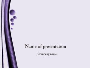 Violet bubbles powerpoint template presentation