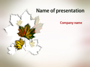 falling leaves powerpoint template presentation