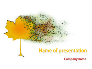 free blurred maple powerpoint template presentation