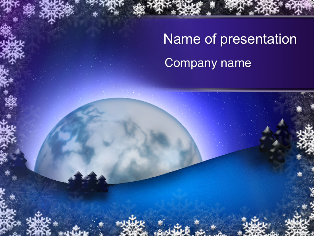 download free winter moon powerpoint template for your presentation