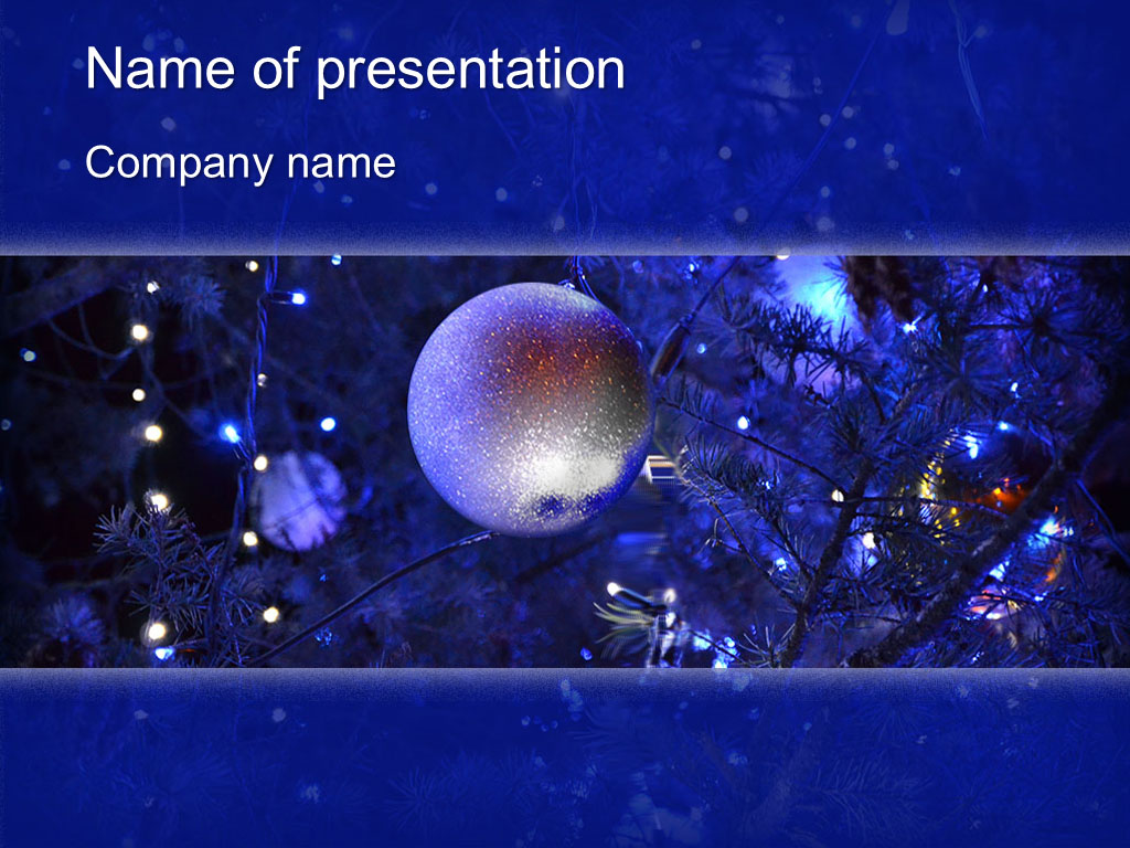download free blue christmas powerpoint template for your presentation. Black Bedroom Furniture Sets. Home Design Ideas
