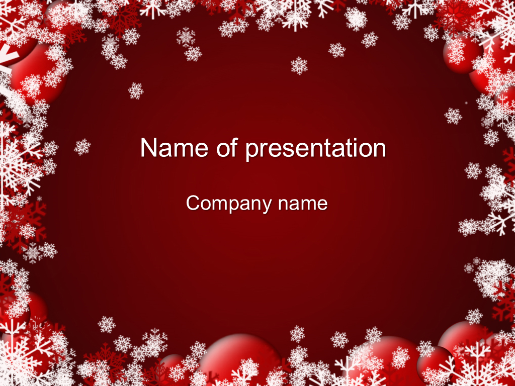 Download free Red Winter PowerPoint template for your presentation