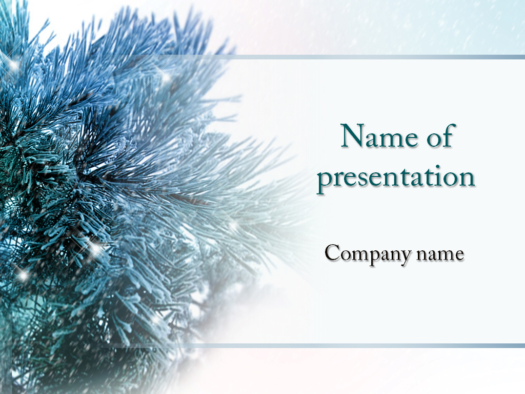 download free winter tree powerpoint template for your presentation, Powerpoint templates