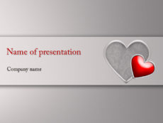 Free big Heart powerpoint-template-presentation