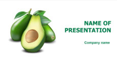 Avocado Vitamins powerpoint template presentation